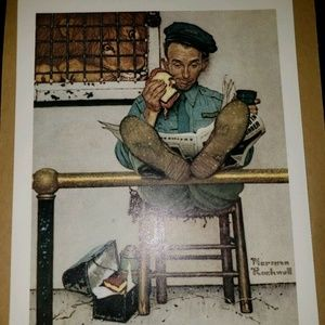 Norman Rockwell Litho Prints, Lion and Zookeeper